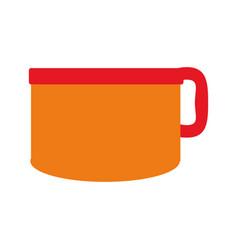 Porcelain mug cup vector