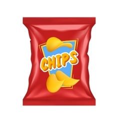 Realistic Chips Package vector