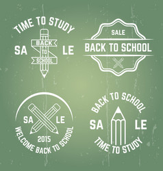 school typographic emblems stamps badges vector image