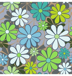 Seamless pattern with chamomiles vector image