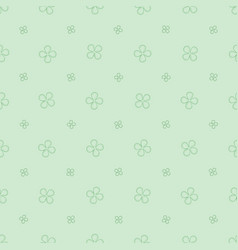 seamless pattern with with four petals flowers vector image