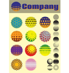 set colorful pattern for making emblems vector image