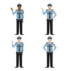 set police men vector image