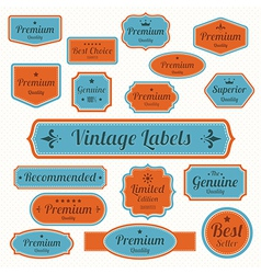 set retro vintage badges and labels eps10 vector image
