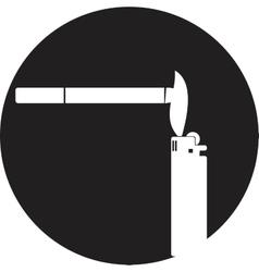 smoking symbol vector image