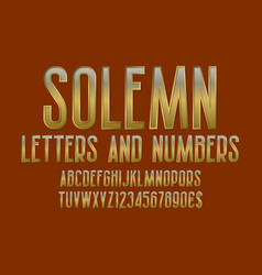 Solemn letters and numbers with currency signs vector
