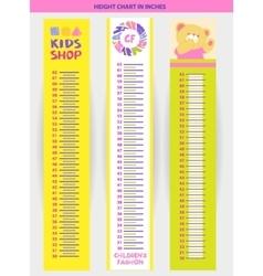 stadiometer for children vector image