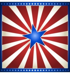 star burst in usa colors vector image