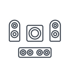 subwoofer speakers sounbar icons vector image