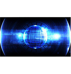Technological global cybersecurity background vector