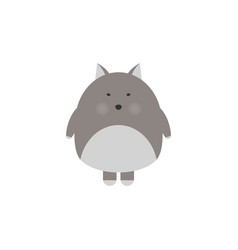 the image of cute little wolf in cartoon style vector image
