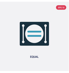 Two color equal icon from signs concept isolated vector