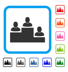 user rating levels framed icon vector image