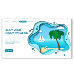 vacation web page natural tourism landing for vector image