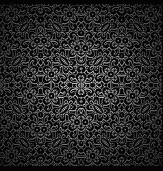 Vintage black ornamental background vector