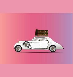 vintage car pink vector image