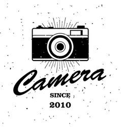 vintage emblem retro photo camera vector image