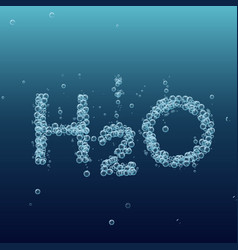 water bubble background h2o vector image