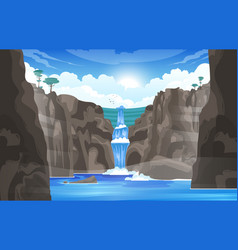 waterfall cartoon vector image