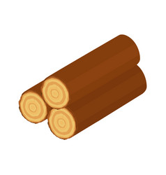 wooden log vector image