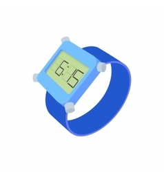 Wrist digital watch icon cartoon style vector