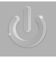 Glass power icon vector image