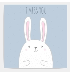 hand drawn bunny with text vector image