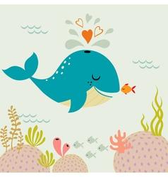 Undersea love vector image vector image