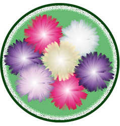Bouquet of asters vector