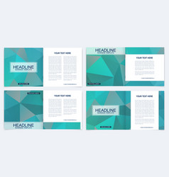 business brochure design template flyer vector image vector image