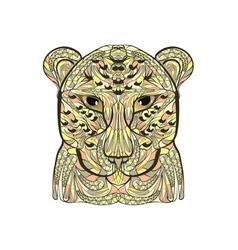ethnic leopard vector image