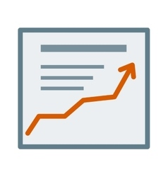 icon growth report diagram chart business vector image