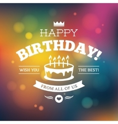 Bright colorful Birthday card design vector image vector image