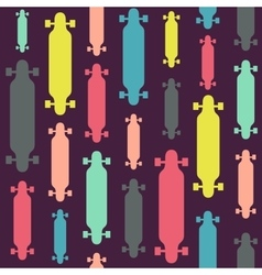 Longboards seamless pattern vector image vector image