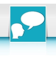 man with Speech Bubbles over his head vector image