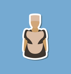 paper sticker on stylish background woman chef vector image