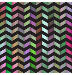 Seamless Colorful Gradient ZigZag Black vector image vector image