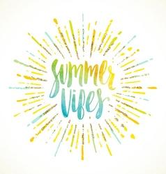 Summer holidays greeting card vector