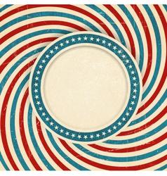 USA flag themed grunge background vector image