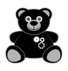 bear robot vector image