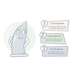 cartoon condom character vector image