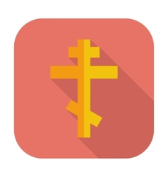 Cross single flat icon vector image
