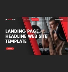 design landing page for the site with a place for vector image