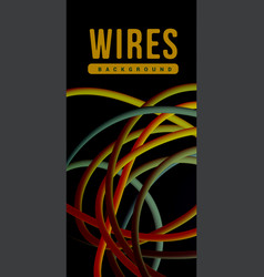 electrical wires of different colors vector image vector image
