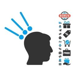 Head Test Connectors Icon With Free Bonus vector image vector image