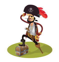 pirate cartoon isolated vector image vector image