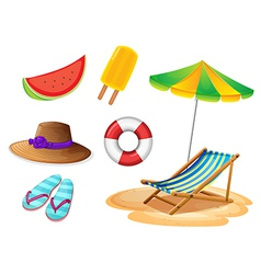 Summer foods and things vector image vector image