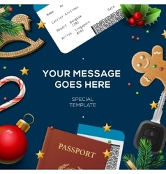 Travel blog template holiday vacation tourism vector image vector image