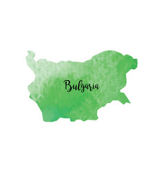 abstract bulgaria map vector image