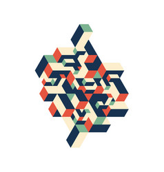 Abstract colorful geometric isometric background vector